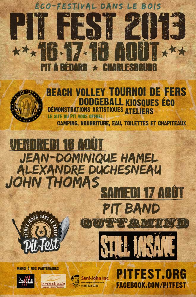 Affiche Pit Fest 2013
